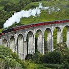 The Jacobite crossing Glenfinnan Viaduct by AntonyMeadley