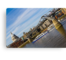 River Thames Downhill  Canvas Print
