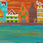 Curacao's Handelskade Abstract by Melissa Vijay Bharwani