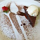 Flourless chocolate cake by Linda Sparks