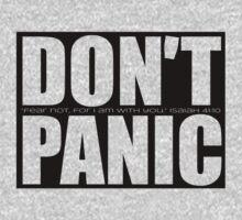 Don't Panic...Isaiah 41:10 (Black) by Jeri Stunkard