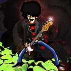 Phil Lynott of Thin Lizzy by Kev Moore