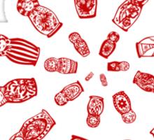 matryoshka spiral Sticker