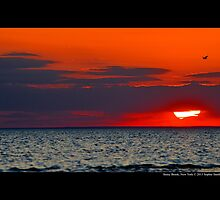 Red Sunset - Stony Brook, New York by © Sophie W. Smith