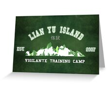 Vigilante Training Camp Greeting Card