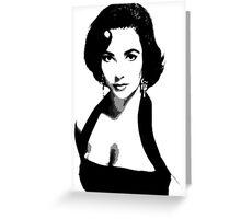 Elizabeth Taylor Greeting Card