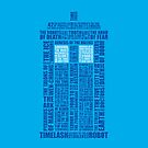 Dr Who The Tardis Word Collage iPhone Case by Nathan Rogers