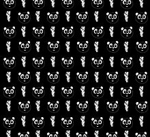 Panda Wallpaper - Black & White by Adamzworld