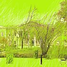 Courthouse in Neon Green by Sarah Butcher