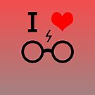 I Love Harry Potter iPhone Cover/Case by Harry Martin