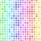 rainbow color fade dots by tabbygun