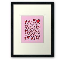 Flying hearts Framed Print