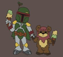 Boba and Wicket - BFFs by beckadoodles