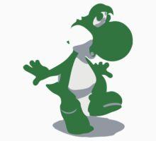 Minimalist Yoshi from Super Smash Bros. Brawl by Himehimine