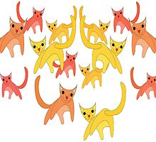 Rain Cats by Jean Gregory  Evans