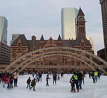 Skating At Nathan Phillips Square by Gary Chapple