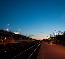 Looking West From Exhibition GO Station At Dusk by Gary Chapple