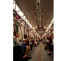 The Subway Car Goes On Forever Photographic Print