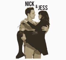 Nick and Jess Tee New Girl by Marrymytelly