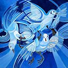 Muge's Pigeons in Blue by taiche