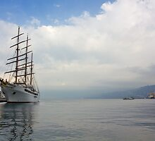 The White Ship at Dawn by Emmeci74