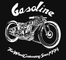 Gasoline Scooters & Motorcycles Line Drawing by GASOLINE DESIGN
