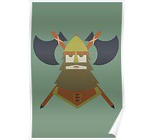 Hornless Viking Poster