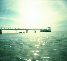 Jetty At The Glistening Sea - Lomo by Yao Liang Chua