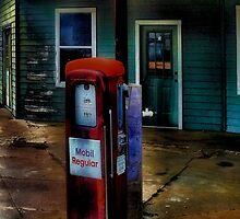 Old Mobil Gas Pump by Carla Jensen