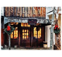Whiskey Flat Saloon Western Watercolor Photographic Print
