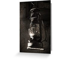 The Old Oil Lamp Greeting Card