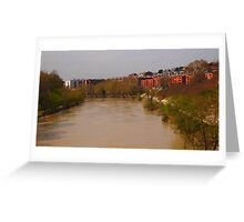 Bend of the River Tiber in central Rome Greeting Card