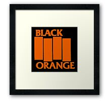 Orange & Black Flag Framed Print