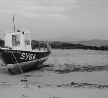 Boat on North Barra, Outer Hebrides by kalwhite