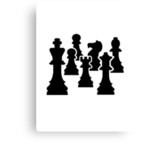 Chess board game Canvas Print