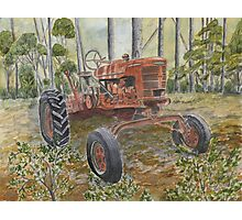 old farm tractor antique Photographic Print