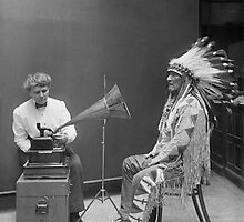 Frances Densmore recording Mountain Chief by TilenHrovatic