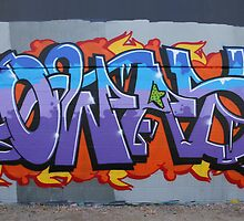 Colourful Lettering Graffiti Style by aussiebushstick