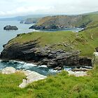 The View from Tintagel Castle, Cornwall  by rsangsterkelly