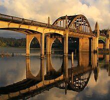 Suislaw River Bridge by Barbara  Brown