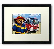 ☝ ☞THEY CALL ME THE FIREMAN THATS MY NAME GOIN ROUND ALL OVER TOWN PUTTING OUT OLD FLAMES LOL☝ ☞  Framed Print