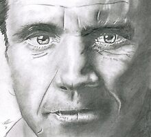 ORIGINAL PENCIL DRAWING - Mel Gibson by vandenhoornart
