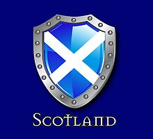 Scotland Saltire Shield by eyemac24