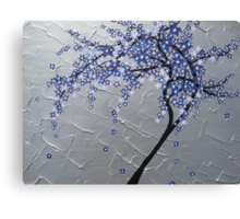 blue and purple blossom tree Canvas Print
