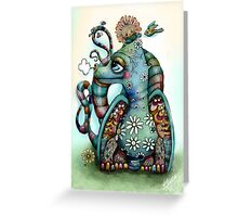 Misty the Friendly Rainbow Dragon Greeting Card