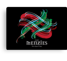 Menzies Tartan Twist Canvas Print