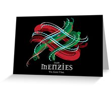 Menzies Tartan Twist Greeting Card