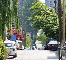 Vancouver Downtown West Side Street by Wolf Read