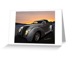 Custom 37 Ford Pickup Sundown in the wilds of the Texas Hill Country Greeting Card