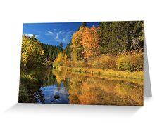 Autumn Along The Susan River Greeting Card